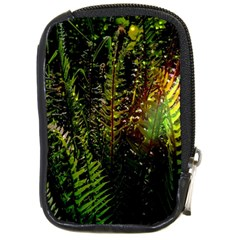 Green Leaves Psychedelic Paint Compact Camera Cases