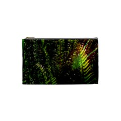 Green Leaves Psychedelic Paint Cosmetic Bag (Small)