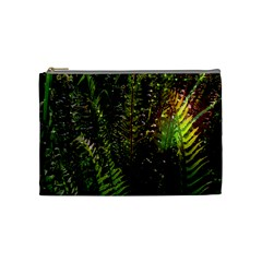 Green Leaves Psychedelic Paint Cosmetic Bag (medium)