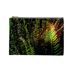 Green Leaves Psychedelic Paint Cosmetic Bag (Large)