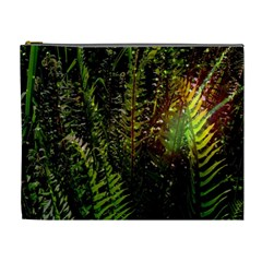 Green Leaves Psychedelic Paint Cosmetic Bag (xl)