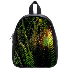Green Leaves Psychedelic Paint School Bags (Small)