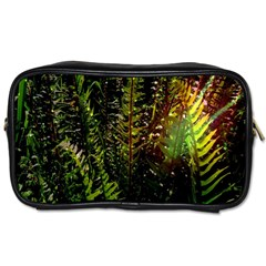 Green Leaves Psychedelic Paint Toiletries Bags