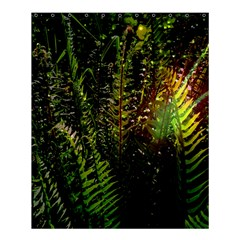 Green Leaves Psychedelic Paint Shower Curtain 60  x 72  (Medium)