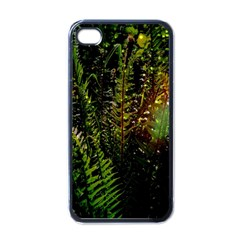 Green Leaves Psychedelic Paint Apple iPhone 4 Case (Black)
