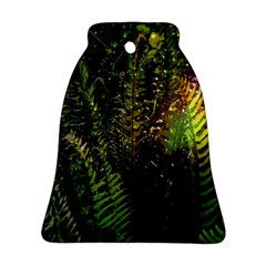 Green Leaves Psychedelic Paint Ornament (bell)