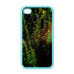 Green Leaves Psychedelic Paint Apple iPhone 4 Case (Color)