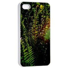 Green Leaves Psychedelic Paint Apple Iphone 4/4s Seamless Case (white)