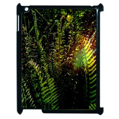 Green Leaves Psychedelic Paint Apple iPad 2 Case (Black)