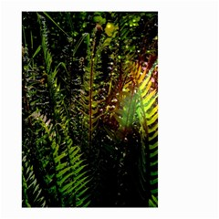 Green Leaves Psychedelic Paint Small Garden Flag (Two Sides)