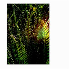 Green Leaves Psychedelic Paint Large Garden Flag (Two Sides)