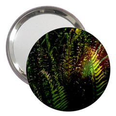 Green Leaves Psychedelic Paint 3  Handbag Mirrors