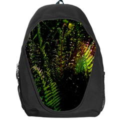 Green Leaves Psychedelic Paint Backpack Bag