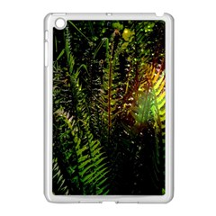 Green Leaves Psychedelic Paint Apple iPad Mini Case (White)
