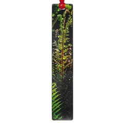 Green Leaves Psychedelic Paint Large Book Marks