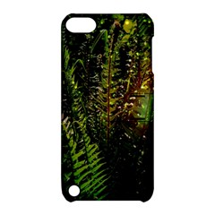 Green Leaves Psychedelic Paint Apple Ipod Touch 5 Hardshell Case With Stand