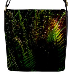 Green Leaves Psychedelic Paint Flap Messenger Bag (S)