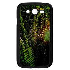 Green Leaves Psychedelic Paint Samsung Galaxy Grand DUOS I9082 Case (Black)