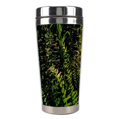 Green Leaves Psychedelic Paint Stainless Steel Travel Tumblers
