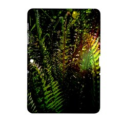 Green Leaves Psychedelic Paint Samsung Galaxy Tab 2 (10 1 ) P5100 Hardshell Case