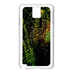 Green Leaves Psychedelic Paint Samsung Galaxy Note 3 N9005 Case (White)