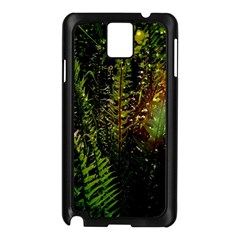 Green Leaves Psychedelic Paint Samsung Galaxy Note 3 N9005 Case (black)