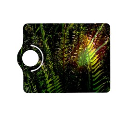 Green Leaves Psychedelic Paint Kindle Fire Hd (2013) Flip 360 Case
