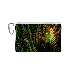 Green Leaves Psychedelic Paint Canvas Cosmetic Bag (s)