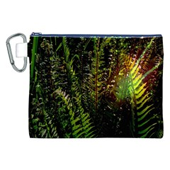 Green Leaves Psychedelic Paint Canvas Cosmetic Bag (xxl)