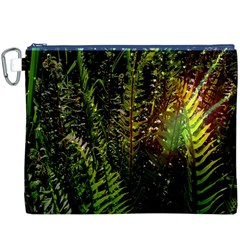 Green Leaves Psychedelic Paint Canvas Cosmetic Bag (XXXL)
