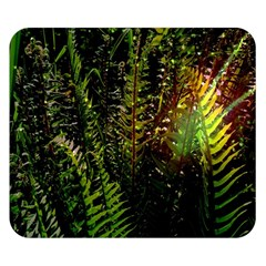 Green Leaves Psychedelic Paint Double Sided Flano Blanket (Small)