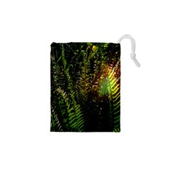 Green Leaves Psychedelic Paint Drawstring Pouches (xs)