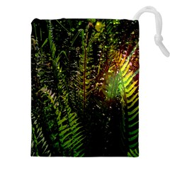 Green Leaves Psychedelic Paint Drawstring Pouches (xxl)