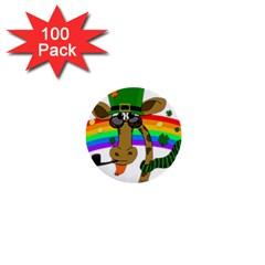 Irish giraffe 1  Mini Buttons (100 pack)