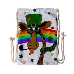 Irish giraffe Drawstring Bag (Small)