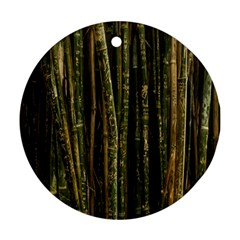 Green And Brown Bamboo Trees Ornament (Round)