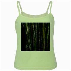 Green And Brown Bamboo Trees Green Spaghetti Tank
