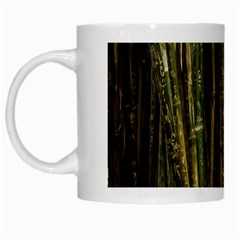 Green And Brown Bamboo Trees White Mugs