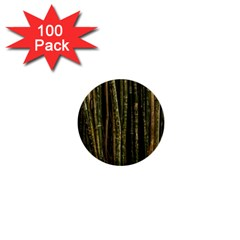 Green And Brown Bamboo Trees 1  Mini Buttons (100 pack)