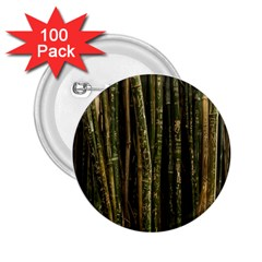 Green And Brown Bamboo Trees 2.25  Buttons (100 pack)