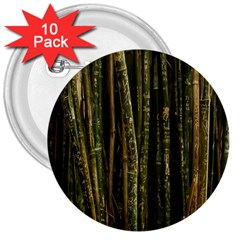 Green And Brown Bamboo Trees 3  Buttons (10 pack)