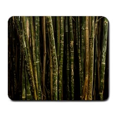 Green And Brown Bamboo Trees Large Mousepads