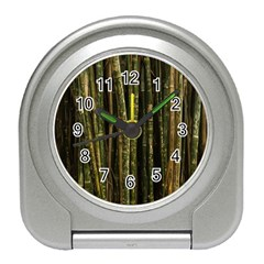 Green And Brown Bamboo Trees Travel Alarm Clocks