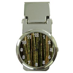 Green And Brown Bamboo Trees Money Clip Watches