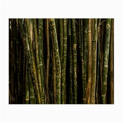 Green And Brown Bamboo Trees Small Glasses Cloth (2 Side)