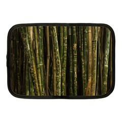 Green And Brown Bamboo Trees Netbook Case (medium)