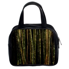 Green And Brown Bamboo Trees Classic Handbags (2 Sides)