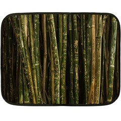Green And Brown Bamboo Trees Double Sided Fleece Blanket (Mini)