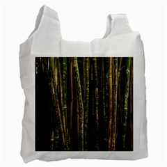Green And Brown Bamboo Trees Recycle Bag (Two Side)