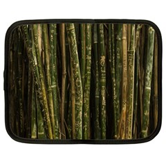 Green And Brown Bamboo Trees Netbook Case (xl)